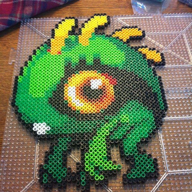 Baby Murloc - World of Warcraft perler beads by splattycake
