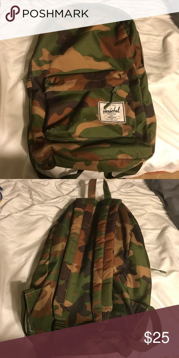 Herschel camo backpack Great condition Herschel Supply Company Bags Backpacks