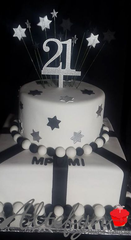 2 tier 21st birthday cake