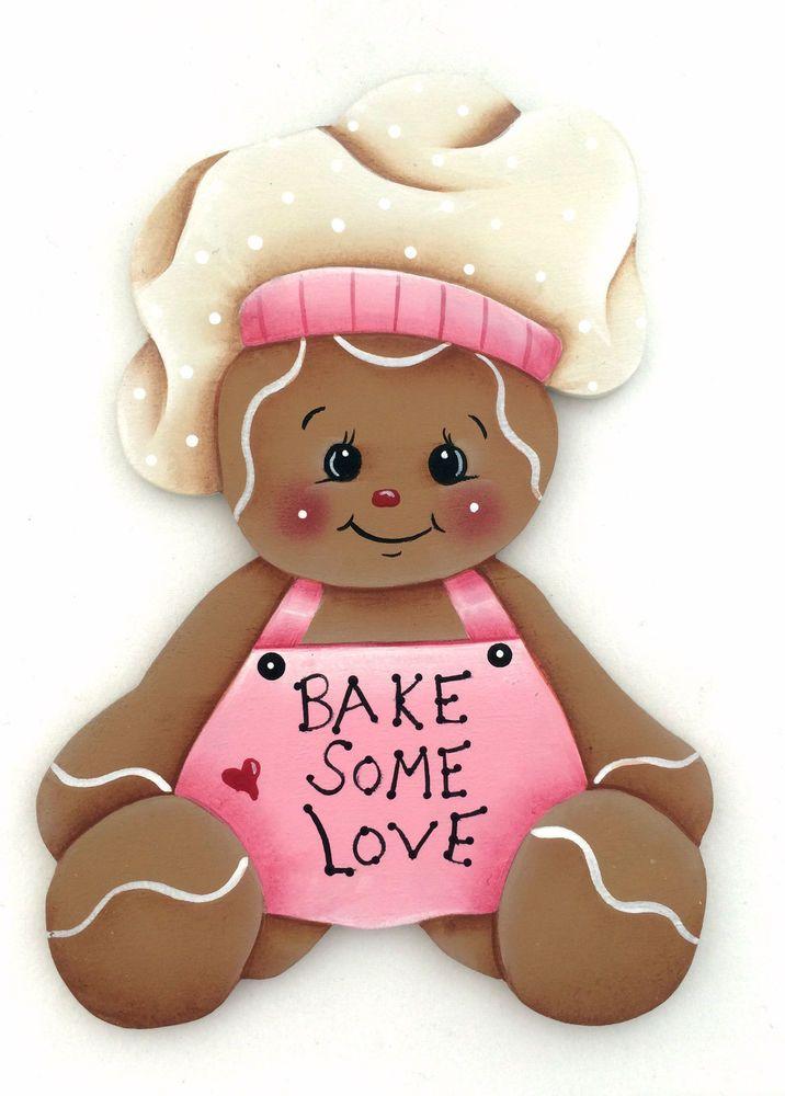 HP GINGERBREAD FRIDGE MAGNET bake some love