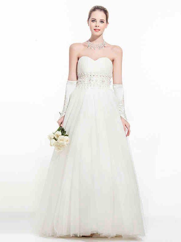 Empire Waist Silhouette Wedding Gown