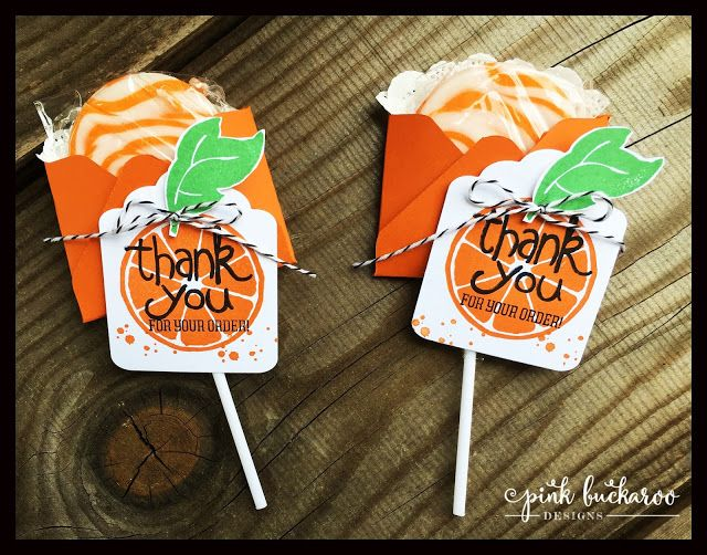 Stampin' Up Apple of My Eye Lollipop Holders by Pink Buckaroo Designs