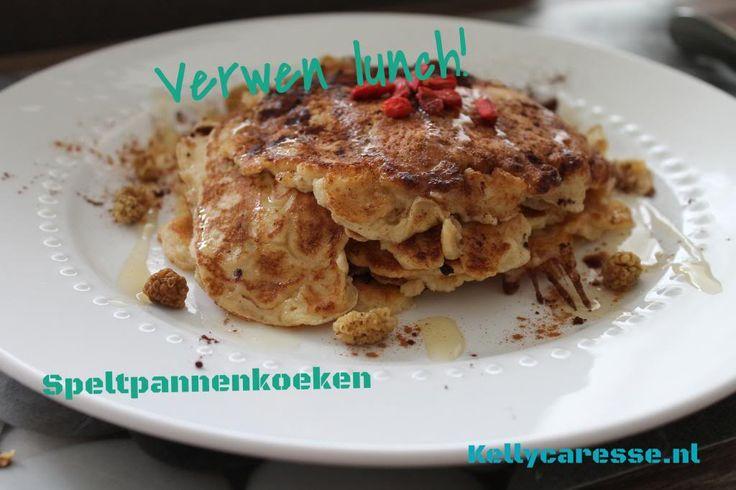 Recept speltpannenkoeken voor een overheerlijk lekkere lunch of snack. Gezond en lekker, maar ook makkelijk te maken. Lekker met superfood, cacao poeder en