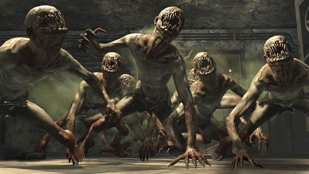 Black ops 1 - Zombie Mode.  As you get further through the map, you will encounter these mutated zombies. They are a lot more stronger than the average zombie. This is inspirational and I should look at creating a zombie mouth for just the head, with no other features.