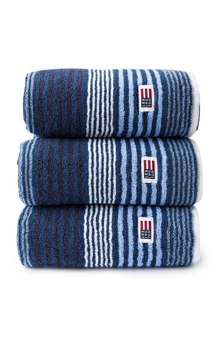 Lexington Original Striped Towel.  Dark Blue Multi.