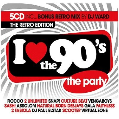I LOVE THE 90S - THE RETRO EDITION 5CD (2018)