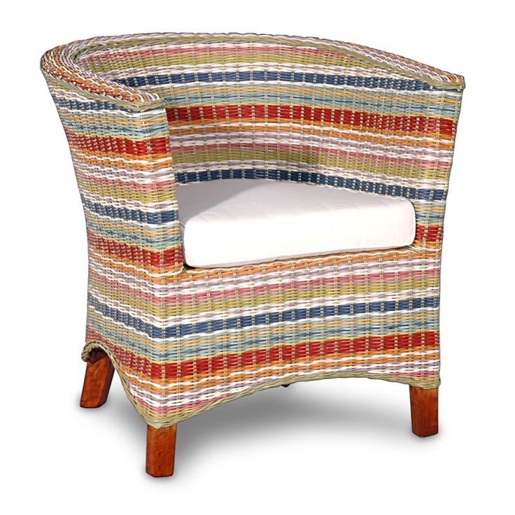 funky furniture material. product: chair construction material: rattan, fabric and foam color: multi features: cushion includedhand-woven dimensions: h x w d funky furniture material