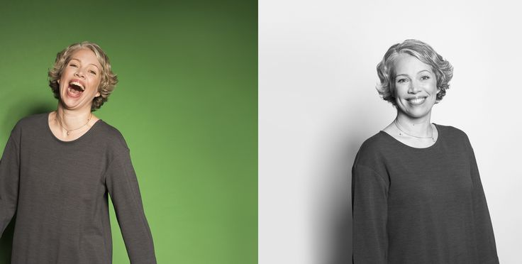 Colors. Black and white. So happy, so smiley. Green. Portrait. Photo by Mikael Ahlfors.