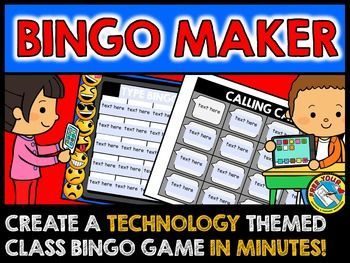 Create a customized bingo game in about 2 minutes! This technology theme (+emoji) bingo maker lets you create a set of 30 bingo cards in a few minutes! Super easy and fun for everyone! Click to view bingo this editable resource!