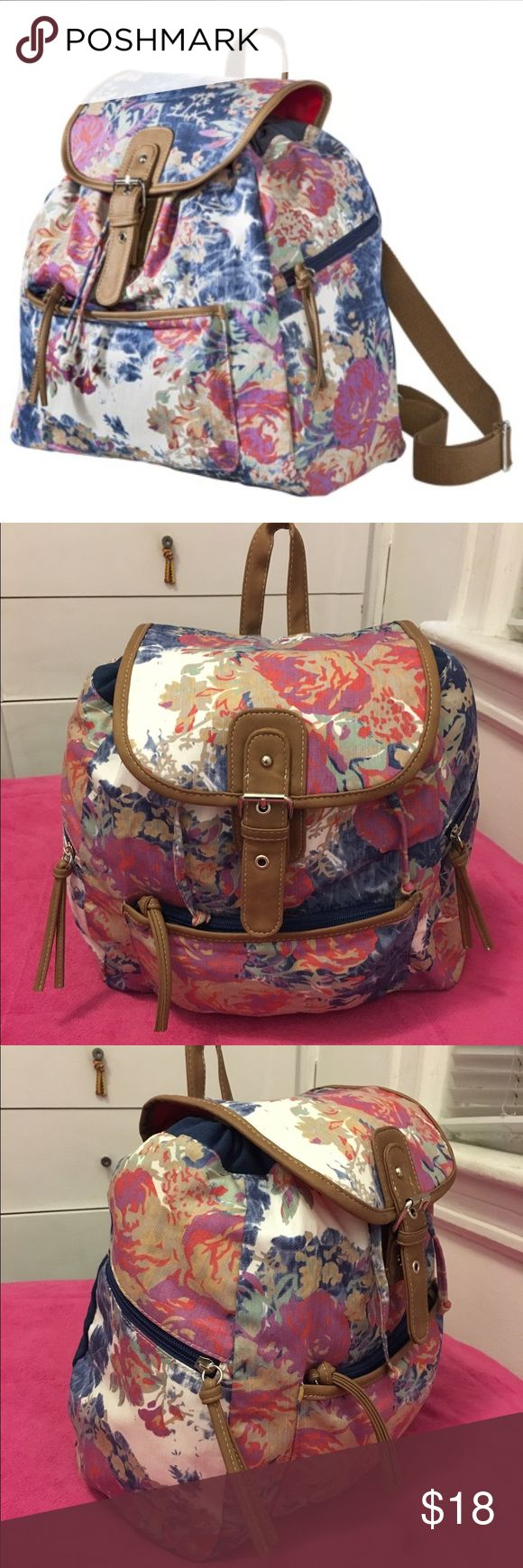 Mossimo Supply Co Floral Backpack Super cute Mossimo Supply Co Floral Backpack. Very spacious and comfortable for everyday! Mossimo Supply Co Bags Backpacks