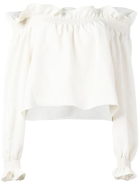 Shop Diane Von Furstenberg ruffled trim blouse. 245 euro c'factor choice personal shopper follow me