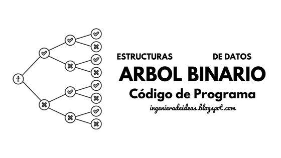 Rutina o código de programa para la creación de un árbol binario, en memoria estática y dinámica.