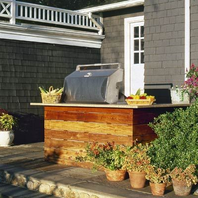 17 best images about outdoor kitchen ideas on pinterest for Outdoor kitchens on a budget