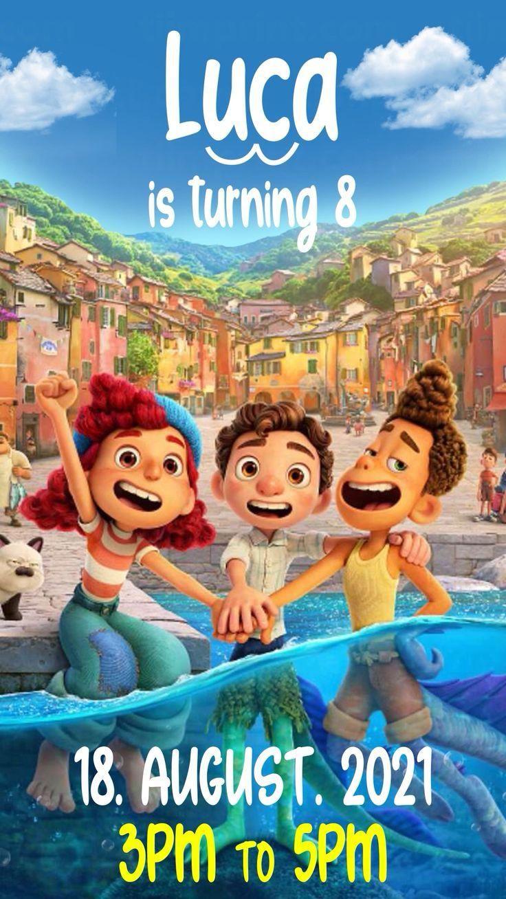 Luca Video Invitation Video In 2021 Disney Monster Birthday Parties Lucas