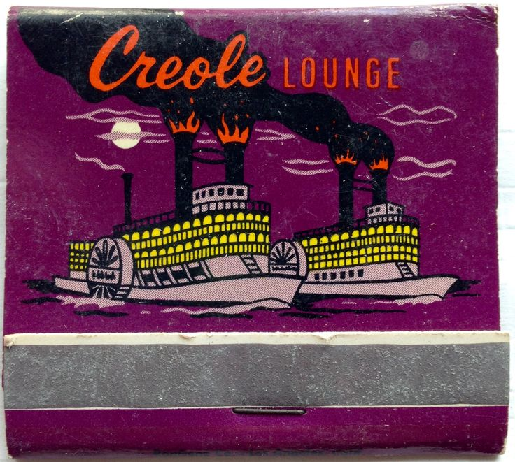 Creole Lounge #matchbook - To design & order your business' own logo #matches GoTo: GetMatches.com #phillumeny