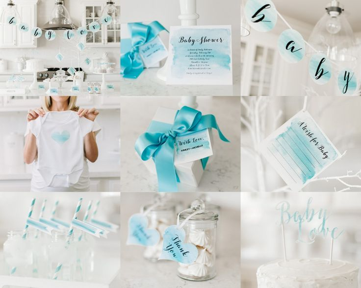 Cricut Everywhere: Watercolor Baby Shower