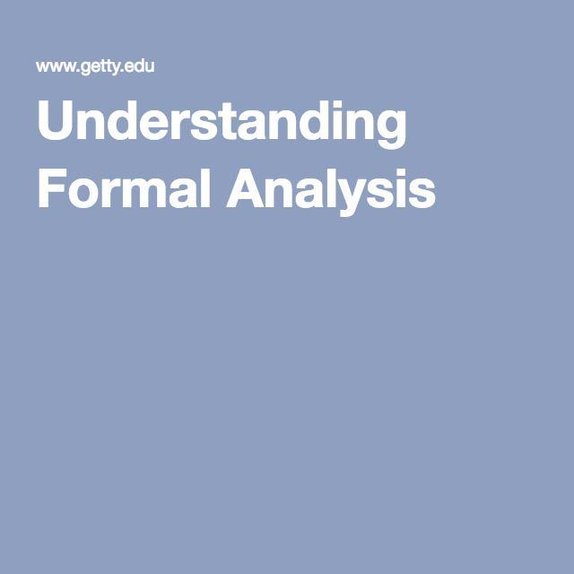 Understanding Formal Analysis