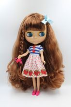 O Envio gratuito de big desconto RBL-322 Blyth Nu DIY presente de aniversário de boneca para a menina de 4 cor dos olhos grandes boneca com Cabelo bonito brinquedo bonito(China)