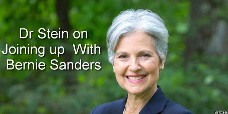 """Dr. Jill Stein: Being in a Bernie Sanders Administration """"could be discussed"""" 