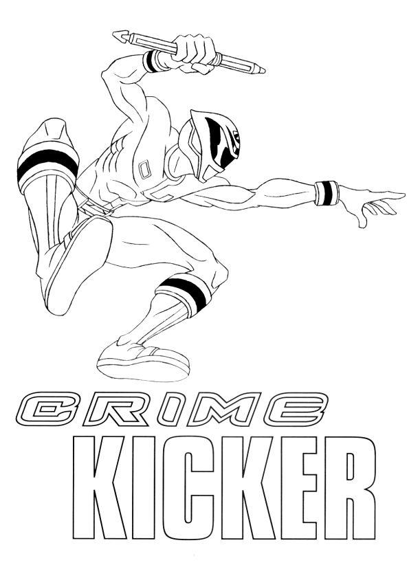 Un Power Ranger avec un samouraï doré, un dessin à colorier