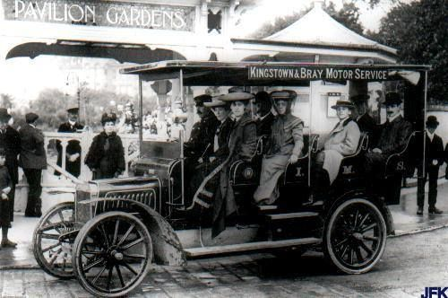Public transport has a long history in Dun Laoghaire with one of the first commuter train services in the world and this motorised omnibus taking passengers from Dun Laoghaire to Bray.