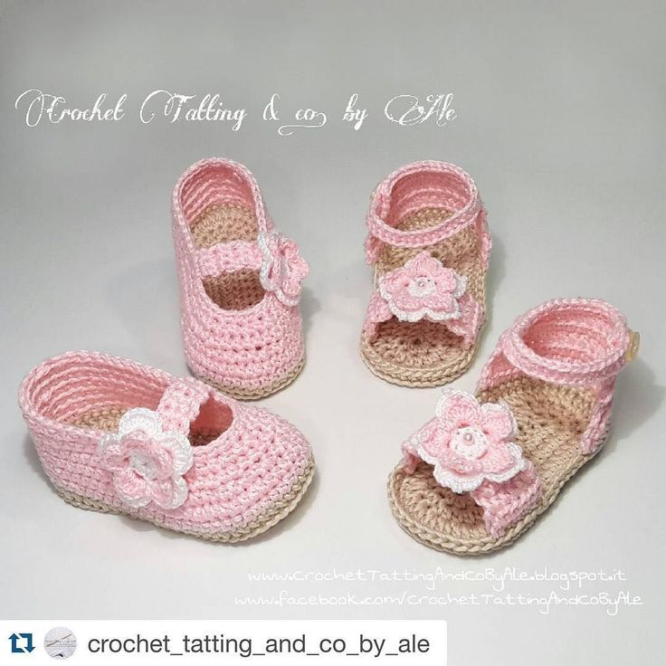 #Repost @crochet_tatting_and_co_by_ale with @repostapp.  #Scarpine  #scarpette  #sandali #uncinetto #neonata   #CrochetTattingAndCoByAle #crochettattingbyale #crochet #uncinettocreazione #etsy #shoes #uncinettobimbi #uncinettobambini #art #crochetforbaby #bymum #handmade #instacrochet #crocheting #crochetaddicted #mamme  #nonne #zie #lemaddine #spring #summer #pink #moda #alittlemarket Per informazioni contattatemi  info in my bio   @crochet_tatting_and_co_by_ale by lemaddine