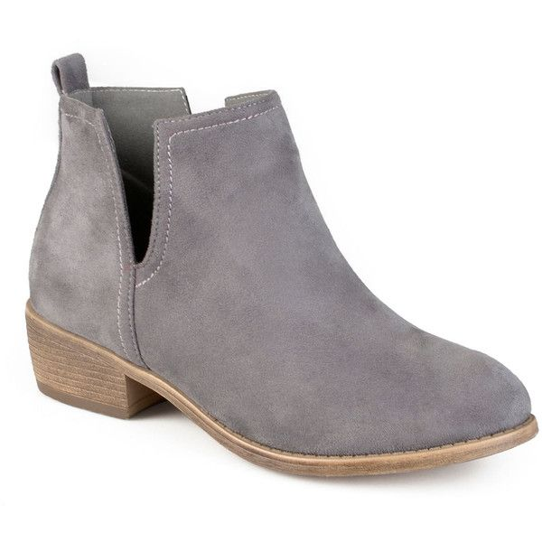 Journee Collection Womens Bootie ($80) ❤ liked on Polyvore featuring shoes…