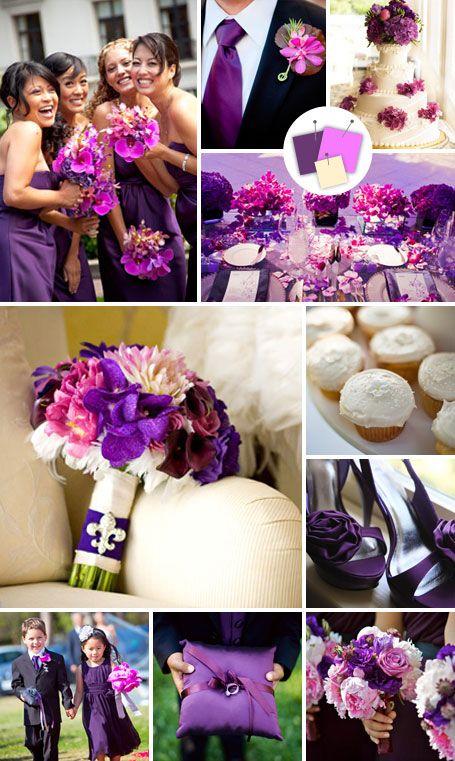 Purple explosion!  http://wedding.theknot.com/wedding-colors/choosing-wedding-colors/articles/modern-wedding-color-palettes-we-love.aspx?page=19