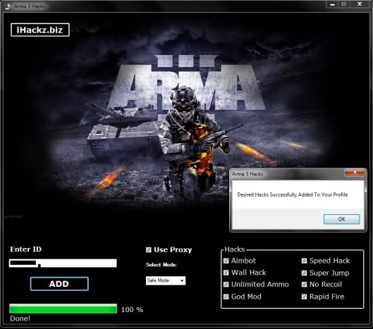 http://hacksandcracks.net/game-hacks/arma-3-cheats-and-hacks-free-download/ - Arma 3 Hacks Arma 3 Cheats is tool which will help you hack arma game. I contains Aimbot, Wallhack, and a lot of other popular cheats and hacks for Arma 3. So if you want to cheat in Arma 3 and be undetected download our Arma 3 Cheats for free.