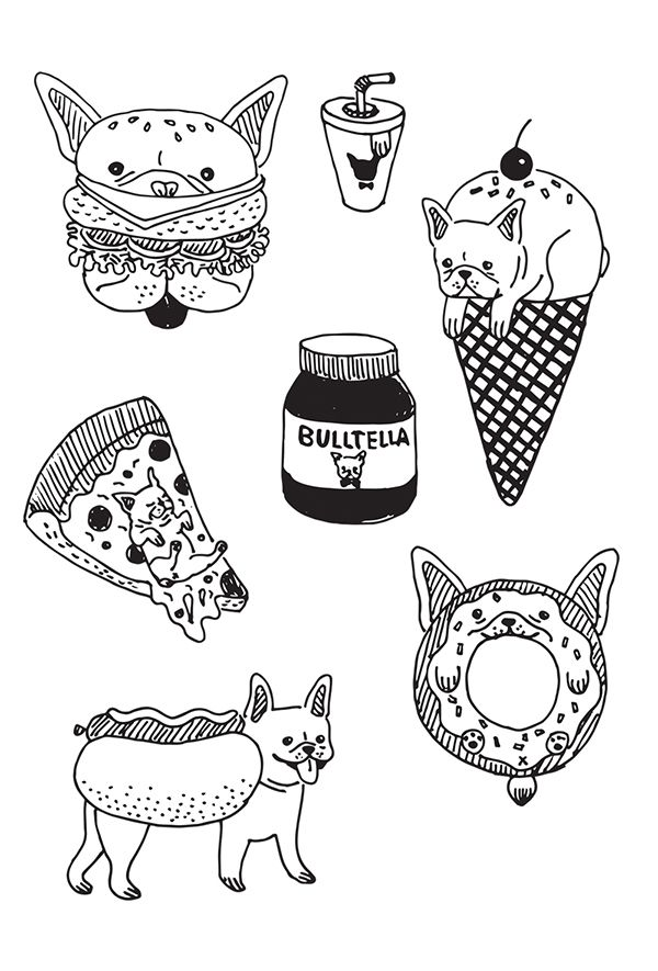 French Bulldog X Foodie on Behance