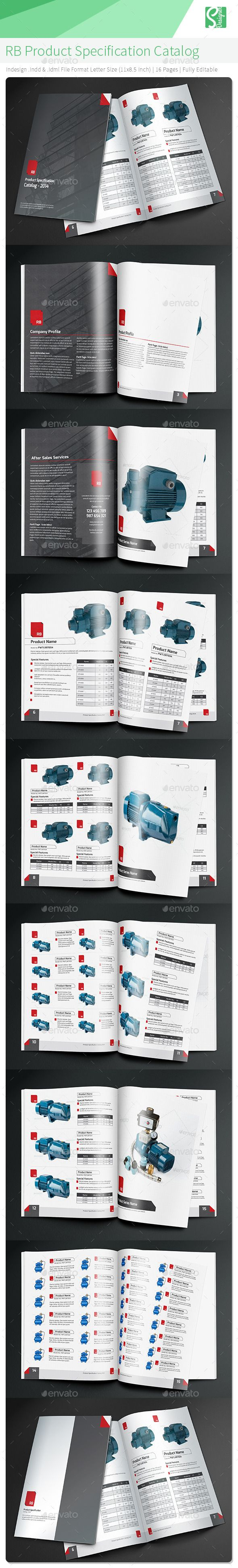RB Product Specification Catalog