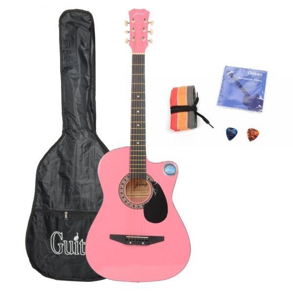 I, Cutaway Acoustic Guitar Pink Bag Strap Pick CSP-38C 38 Basswood Guitar Packag: Bid: 65,13€ (£58.02) Buynow Price 65,13€ (£58.02)…