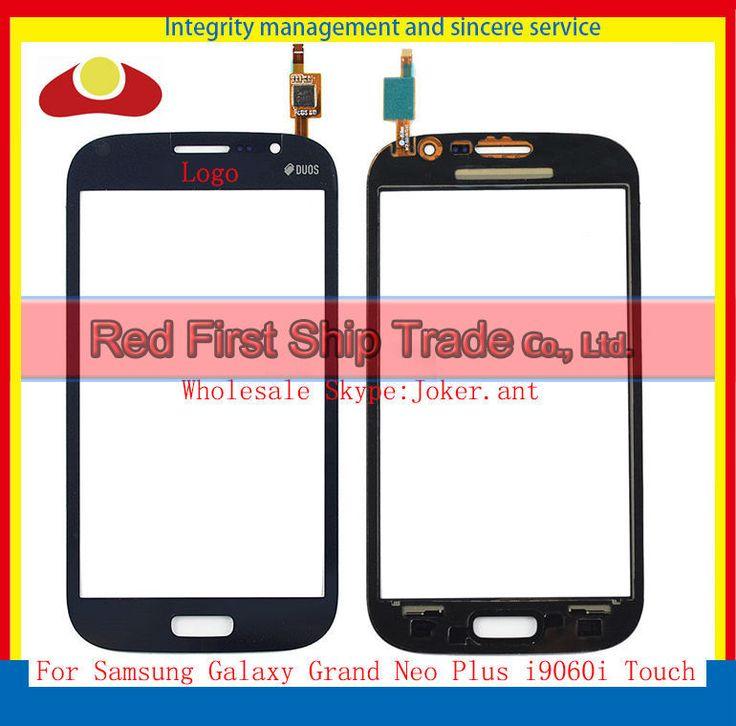 Di alta Qualità Per Samsung Galaxy Gran Neo Più i9060i Sensore di Tocco Digitale Dello Schermo Frontale Obiettivo di Vetro Blu Oro Bianco + inseguimento