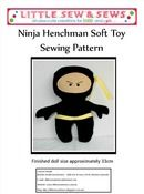 Ninja Henchman Soft Toy Sewing Pattern PDF
