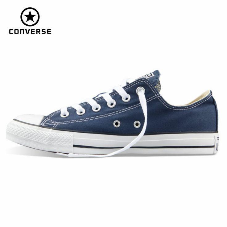 Asli converse all star sepatu kanvas pria dan wanita sneakers laki-laki perempuan rendah klasik sepatu skateboard gratis pengiriman