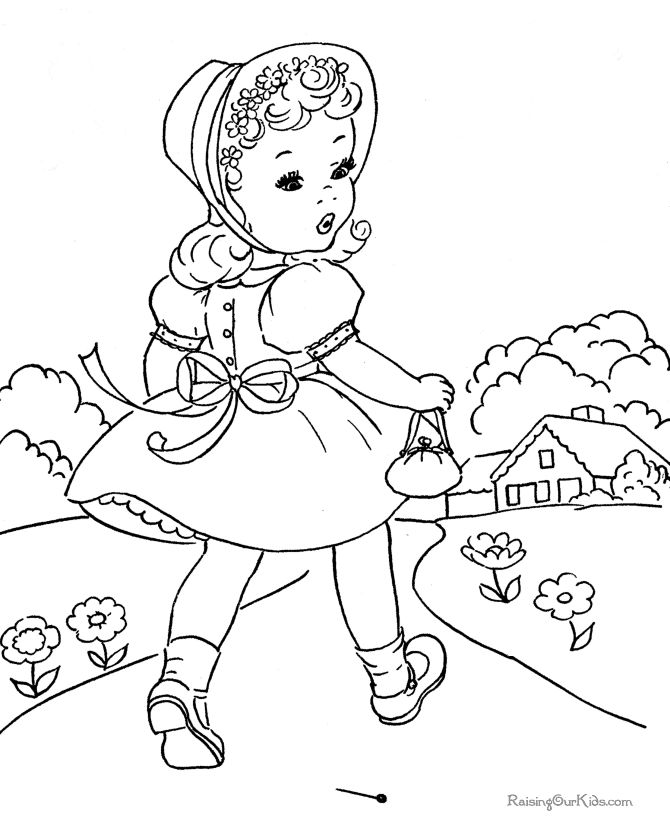 Free Kid Coloring Pages For Easter