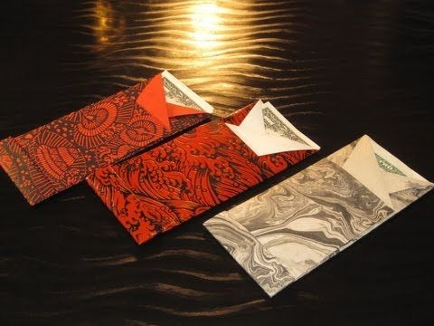 Learn make origami envelopes with clear diagrams and easy to understand directions. That is, you can use a square piece of paper, and you will get a long thin envelope - like the red envelope on the bottom right, or you can use a tall thin rectangle of paper to get an envelope that is almost square - like the envelope on the top left.