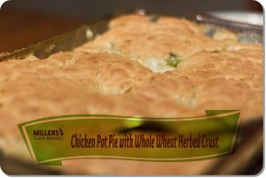 Chicken Pot Pie with Whole Wheat Herb Crust: FILLING. 2 Cups cooked ...