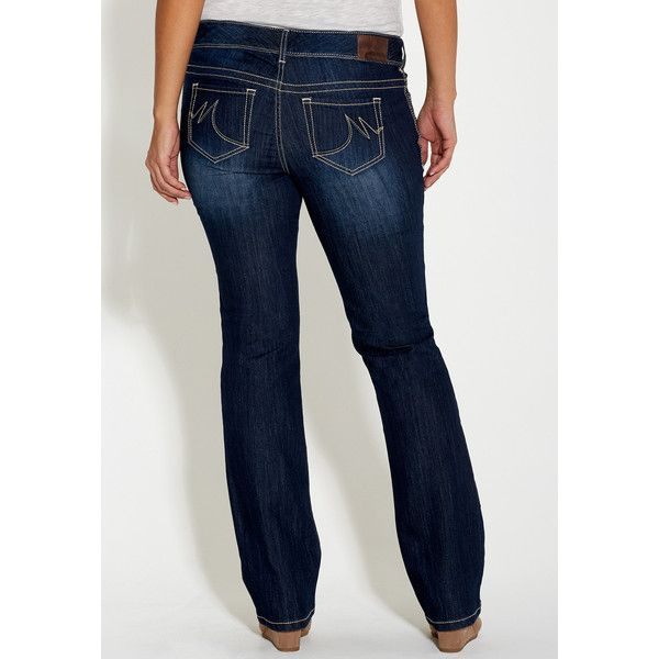 maurices Plus Size - Taylor Bootcut Dark Wash Jeans, Women's, Jeans ($34) ❤ liked on Polyvore featuring jeans, plus size, maurices, plus size boot cut jeans, maurices jeans, dark wash jeans and womens plus size jeans