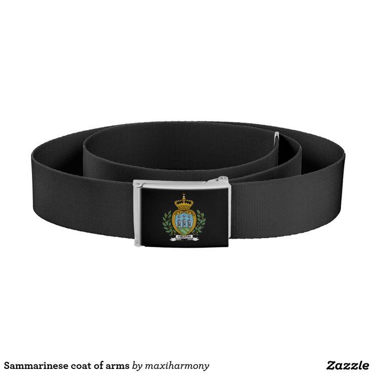 Sammarinese coat of arms belt