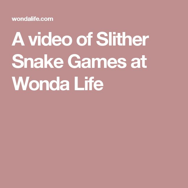 A video of Slither Snake Games at Wonda Life