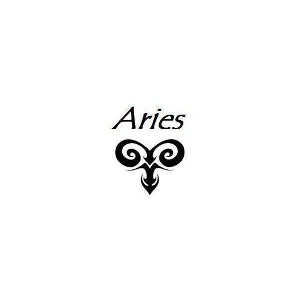 Aries Tattoo Designs found on Polyvore