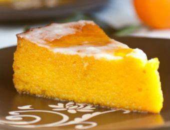 Pastel de naranja esponjoso