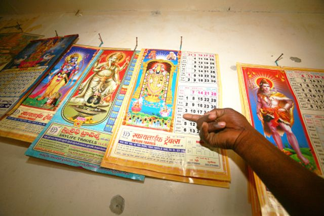 A Quick Introduction to the Hindu Calendar System: A variety of Indian calendars on sale