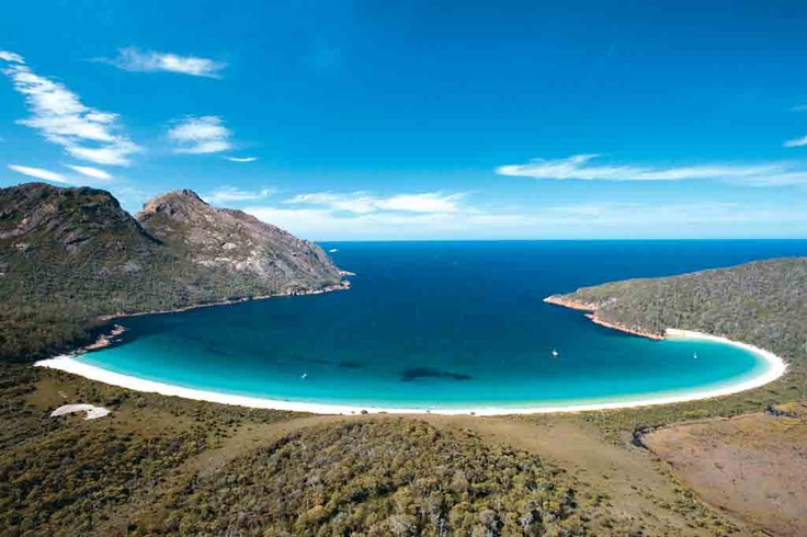 Tasmania--wineglass bay I'd like to drink a glass of wine about right in this spot. :)