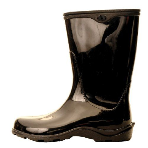 "Sloggers Women's  Rain and Garden Boot with ""All-Day-Comfort"" Insole,  Solid Black  - Wo's size 9 - Style 5000BK09 Sloggers,http://www.amazon.com/dp/B003EGXRDO/ref=cm_sw_r_pi_dp_Du9xtb1AVWJ2RDFZ"