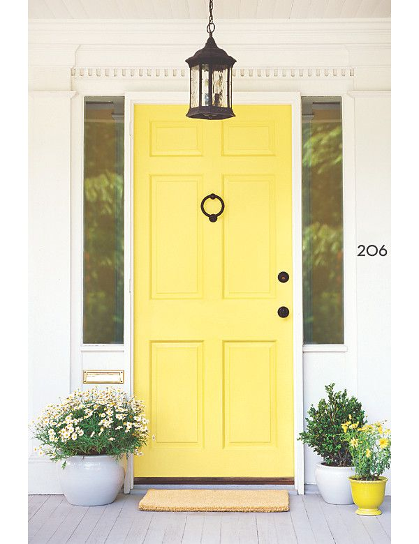 7 Fabulous Front Door Ideas via One Kings Lane. Perfect Inspiration for Modern Masters Front Door Paint!