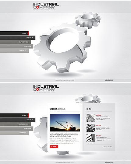 80 best images about javascript based website templates on for Best industrial design companies