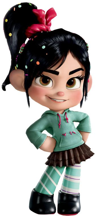 Vanellope Von Schweets from Wreck It Ralph...because some girls don't need to be princesses to be AWESOME!