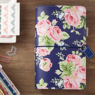 Navy Floral Webster's Pages Color Crush Travelers. Use planners to organize, plan and tell the story of your life. ♥♥ Get a washi tape for FREE when you order the planner kit from us. We will send a r